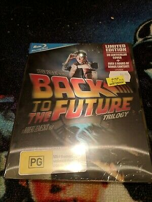 Back To The Future Trilogy (Blu-ray, 3-Disc Set) Limited Edition 3D cover OOP