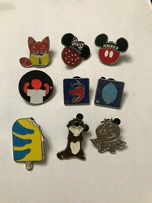9 Disney Themed Pins Lot 506