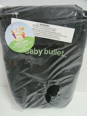 Baby Bullet Thermal Insulated Bottle Bag Zipper Black