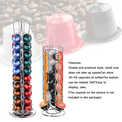 40/18 Chrome Coffee Capsule Pod Holder Stand Dolce Gusto/Nespresso/Tassimo Ng