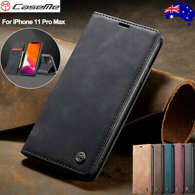 For iPhone 11 Pro Max 8/7/6s Xr Xs Magnetic Leather Wallet Card Case Flip Cover