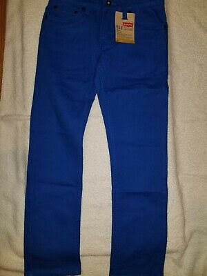 NEW NWT LEVIS 511 Slim Fit blue Jeans Boys 25x25 size 10 regular