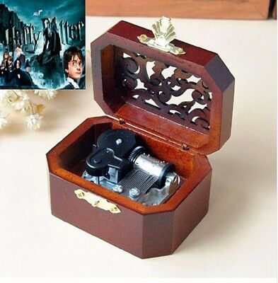 WOODEN OCTAGON CARVING MUSIC BOX ♫ Harry Potter Hedwig's Theme Soundtrack ♫