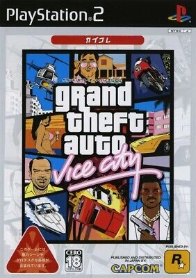 USED PS2 PlayStation 2 grand theft auto Vice City Kapukore 52940 JAPAN IMPORT