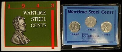 1943-P-D-S US Wartime Steel Cent Set of 6 Littleton Coin Company $0.01 A9838
