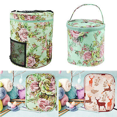 Knitting Yarn Storage Bag Case Crochet Hooks Thread Sewing Kits Organizer Bags