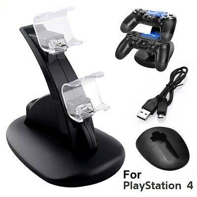 PlayStation PS4 Controller LED Charger Dock Station Dual USB Fast Charging Stand