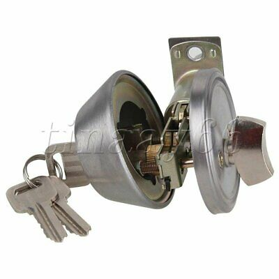Silver Stainless Steel Dead Bolt Brass Door Lock Fitting Parts for Home Office