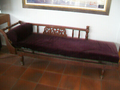 Vintage antique chaise lounge couch