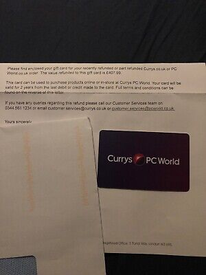 Currys Pc World Gift Card £407.99