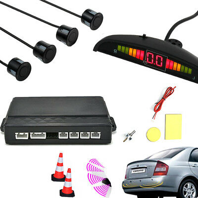 LED Display Car Parking Rear Reversing Sensors Kit Buzzer Audio Alarm Parktronic