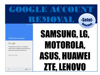 Google Account Removal All Samsung Frp Unlock Lg Motorola