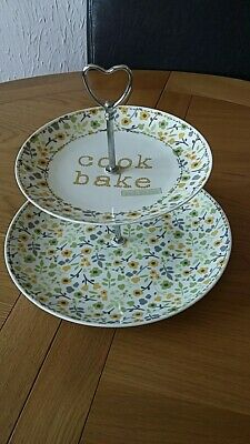Two Tier Ceramic cake Stand