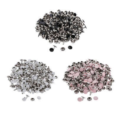100 Sets Metal Rapid Rivets Studs Snap Buttons DIY Leather Craft Accessories