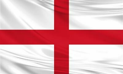 Large England St George Flag 5ft x 3ft / 1.5m x 90cm Polyester with Eyelets