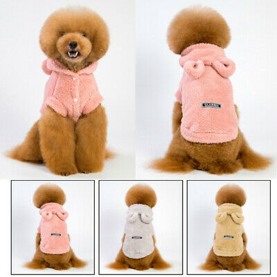 Pet Dog Cat Puppy Hoodie Jumpsuit Coat Clothes For Small Warm Costume Outfits