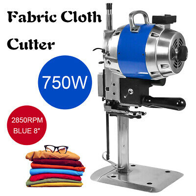"Electric Cloth Cutter 8"" Fabric Leather Cutting Machine Auto Sharpening Clothes"