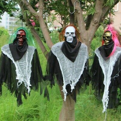 Halloween Horror Electric Hanging Ghost Haunted House Decor Props Party Supplies