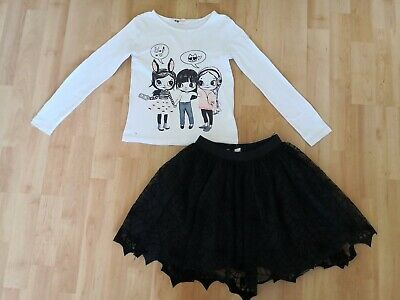H&M Girls Halloween Two Piece Set size 4-5 years