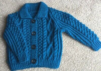 Hand Knitted Aran Cardigan Childs