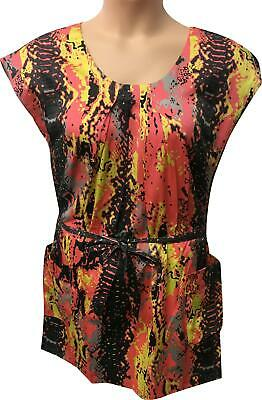 M&S Marks and Spencer Limited Collection Pink Pattern Dress L33 Size 14