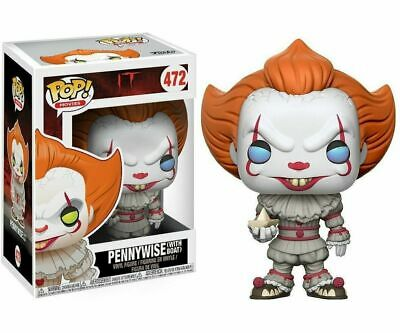 New Funko Pop! Horror Movies: It Pennywise with Boat Blue Eyes #472 Vinyl Figure