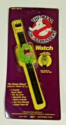 The Real Ghostbusters Slimer Wristwatch The Green Ghost NOS
