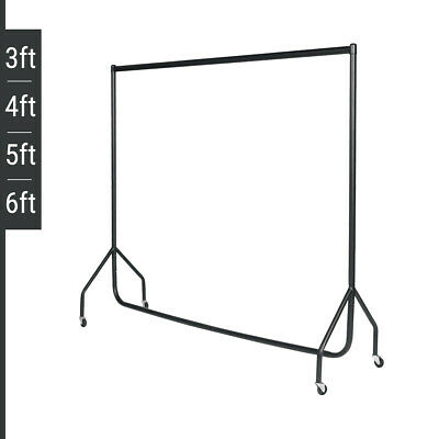 HEAVY DUTY BLACK CLOTHES RAILS/GARMENT HOLDER 3ft 4ft 5ft 6ft