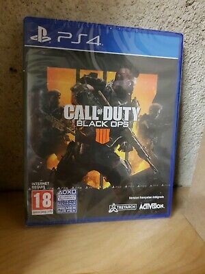 Jeu Ps4 Call Of Duty Black Ops 4 Neuf Sous Blister Version Francaise
