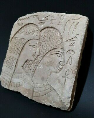 ANCIENT EGYPTIAN ANTIQUES STELA RELIF Tomb EGYPT Carved Stone 1850 -1460 BC