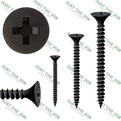 Black Bugle Head Drywall FINE Threaded Screws -Drylining Wood Framework Studding