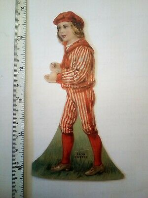 Lion Coffee Paper Doll  Victorian Advertising Trade Card 1800's
