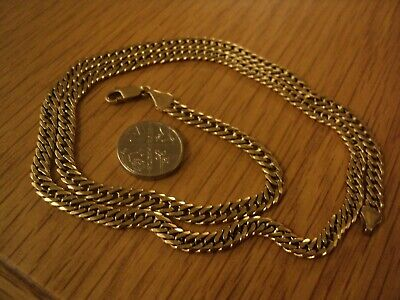 24g stunning solid heavy 9ct gold close linked curb chain /  necklace  vgc