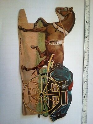 McClaughlin Coffee Paper Doll horse   Victorian Advertising Trade Card 1800's