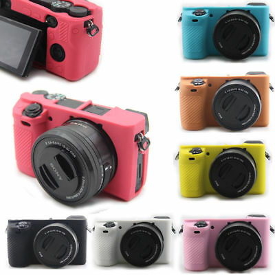 Silicone Camera Protector Body Cover Case Protector Bag Skin For Sony A6500 Top