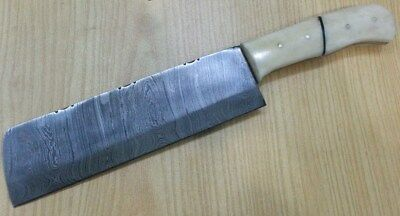 Custom made Hand Crafted KNIFE KING'S Damascus Steel Butcher Knife