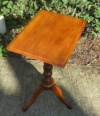 Good Quality Antique 19Th Century Oak Occasional Wine Table