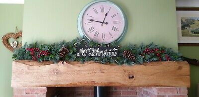 Handcrafted Merry Christmas Garland 6ft