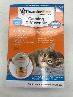 ThunderEase Cat Calming Pheromone Diffuser Kit 30 Day Supply exp 2/22