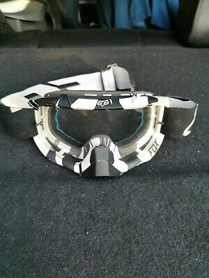 fox racing goggles Black White Adult Size