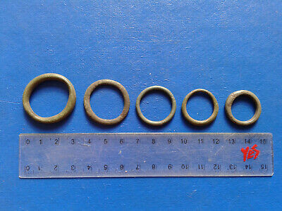 lot of 5 Celtic bronze ring-money, 5th-1st cent BC. №3
