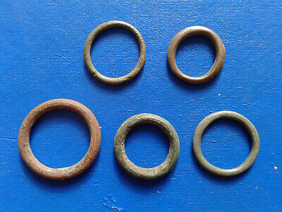 lot of 5 Celtic bronze ring-money, 5th-1st cent BC. №4