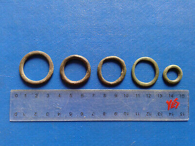 lot of 5 Celtic bronze ring-money, 5th-1st cent BC. №6