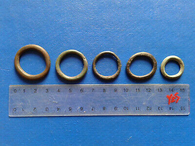 lot of 5 Celtic bronze ring-money, 5th-1st cent BC. №10