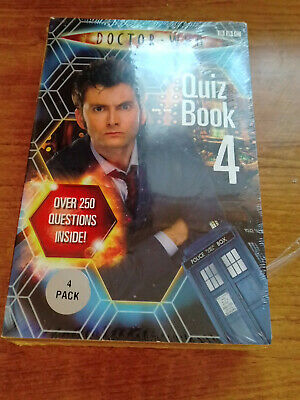 Doctor Who 4 Un Used Sealed Quiz Book Sealed Pack