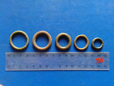 lot of 5 Celtic bronze ring-money, 5th-1st cent BC. №13