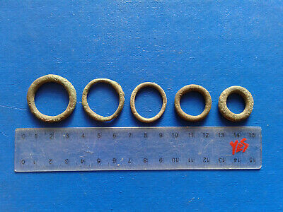 lot of 5 Celtic bronze ring-money, 5th-1st cent BC. №14