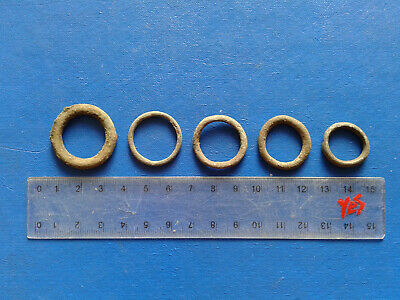 lot of 5 Celtic bronze ring-money, 5th-1st cent BC. №15
