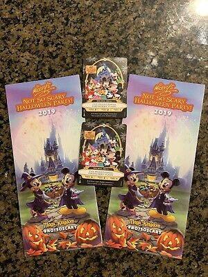 2 Mickey Not So Scary Halloween Party 2019 Sorcerers Of The Magic Kingdom Cards