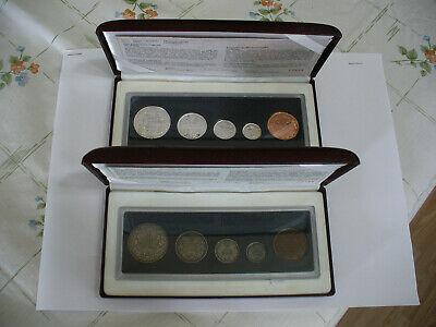1998  RCM  90th ANNIVERSARY PROOF COIN SET TIMES 2   REGULAR AND ANTIQUED 1908